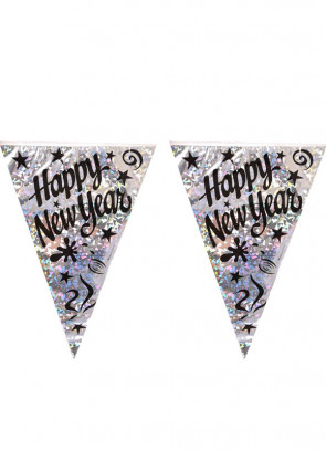 Happy New Year Bunting (11 Flags)