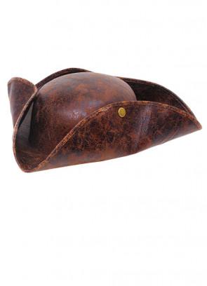 Distressed Brown Pirate Tricorn