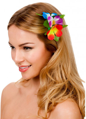 Hawaiian Flower Hair Clip (Multicoloured)