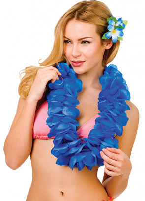 Hawaiian Large Petal Lei Royal Blue