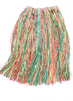 "Hawaiian Long Multi Grass Skirt - will fit up to waist size 36"" or 92cm"