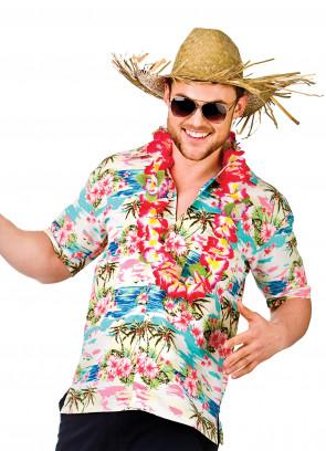 Hawaiian Shirt (Pink Flowers)