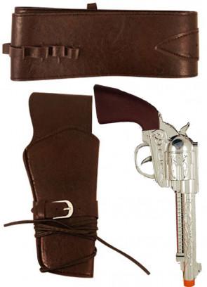 Cowboy Gun & Holster (Brown)