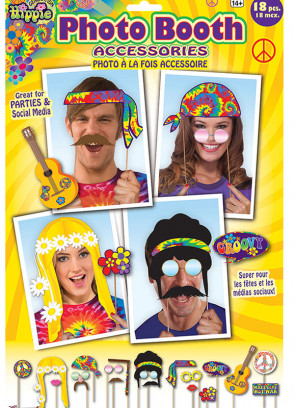 Hippie Photo Booth Props