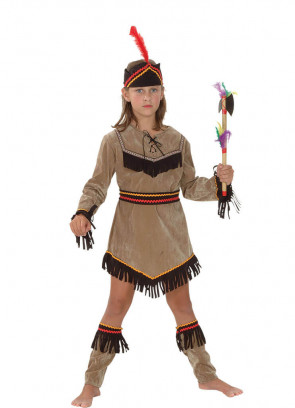 Indian Girl (Boot Tops) (Girls) Costume