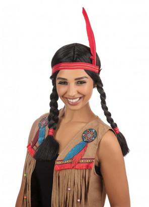 Indian Squaw Wig - Black