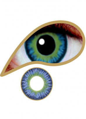 Blue Jade Coloured Contact Lenses - 30 Day Wear