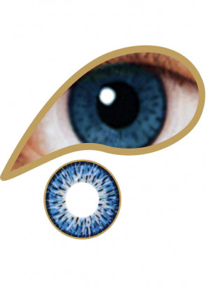 Azure Blue Coloured Contact Lenses - 30 Day Wear