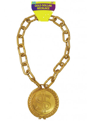 Jumbo Gold Dollar Medallion on Chunky Chain