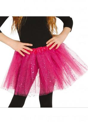 Kids Hot Pink Glitter Tutu
