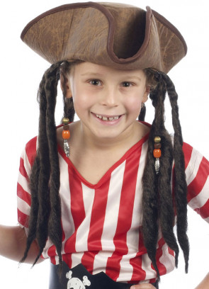 Pirate Hat with Hair - Kids