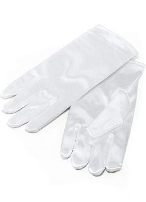Gloves (Kids White Satin)