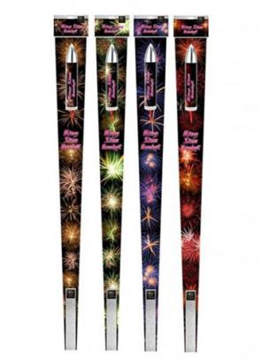 Firework (ROCKETS) - Pro Range - Kingsize Rocket (1 ROCKET ONLY - 4 DIFFERENT DESIGNS)