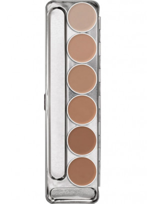 Kryolan Aquacolor Make-up Palette - 6 colours Palette 1W-6W