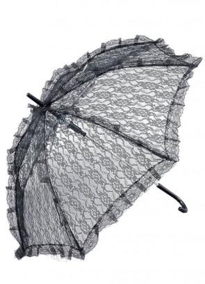Lace Parasol / Umbrella (Black)