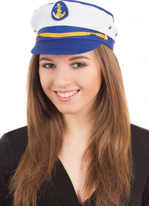 Sailor Captain Hat - Blue