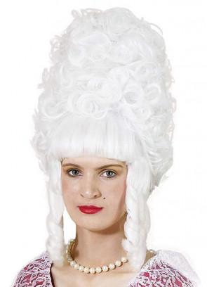 Lady Pompadour Wig - White