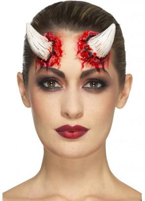 Latex Devil Horns - Ivory