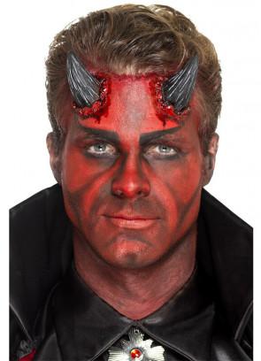 Latex Realistic Devil Horns - Black