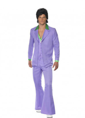 1970s Disco Suit (Lavender)  Costume