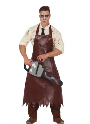 Leather Chainsaw Killer Costume