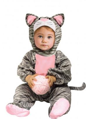 Little Striped Kitten Jumpsuit