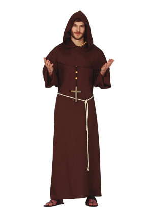 Long Hooded Monk Costume