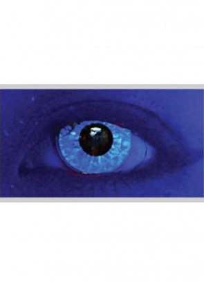 M Ran Blue Glitter UV Contact Lenses - 30 Day Wear