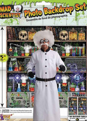 Mad Scientist Photo Backdrop 5ft x 5ft
