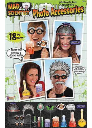 Mad Scientist Photo Props (18 pack)