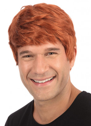 Short Ginger Mens Wig