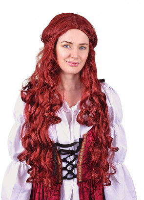 Medieval Lady Wig – Red / Auburn