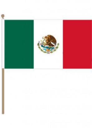"Mexico Hand Flag 18"" x 12"""