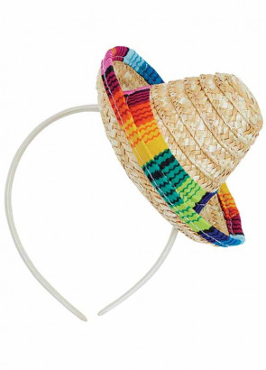 Mini Sombrero on Headband 16cm