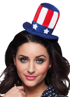 Mini USA Top Hat on Headband