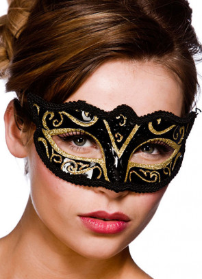 Calypso Eye Mask - Black & Gold