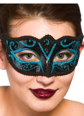 Calypso Eye Mask Blue Glitter