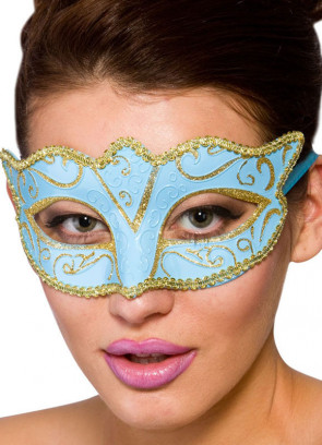 Calypso Eye Mask Blue & Gold