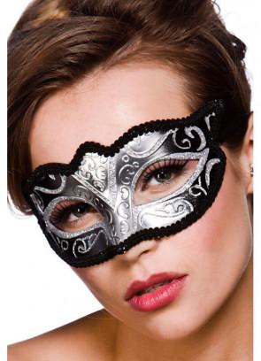 Calypso Eye Mask - Silver Glitter