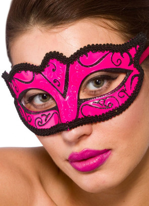 Calypso Eye Mask - Pink & Black