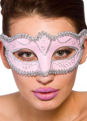 Calypso Eye Mask - Pink & Silver