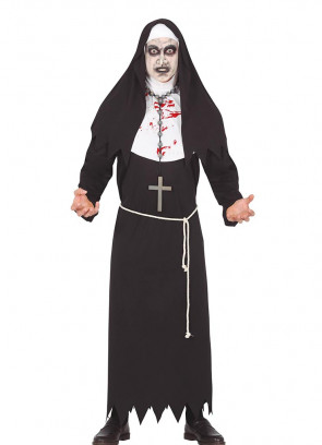 Bloody Evil Nun Costume Unisex