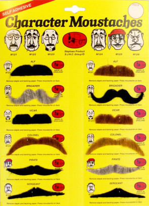 Character Moustaches Multi - Single Assorted