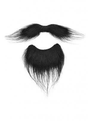 Musketeer Moustache & Beard (Black)