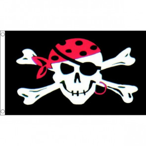 Pirate One Eyed Skull Flag 3X5