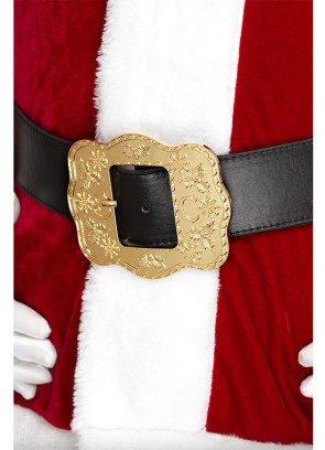 "Ornate Santa Belt 43""-47"" Waist"