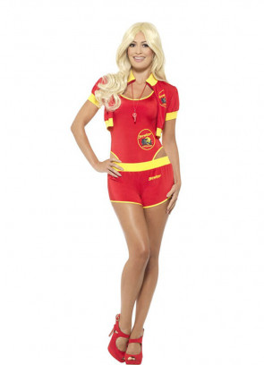 Baywatch Lifeguard Swimsuit (Pamela) Costume