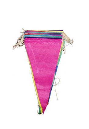 Multi Colour Paper Bunting (12pcs)