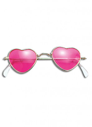 Glasses (Heart-Shaped Pink)