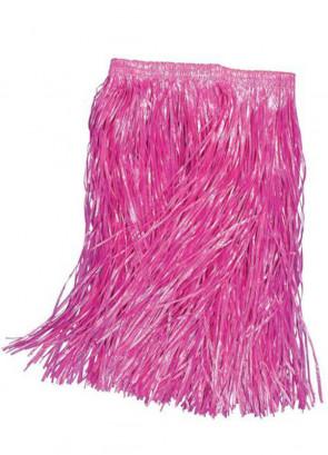 "Hawaiian Pink Kids Grass Skirt - will fit up to waist size 28"" or 71cm"